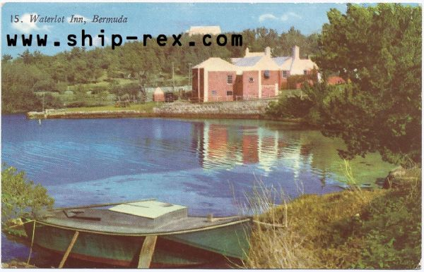 Bermuda, Waterlot Inn - postcard